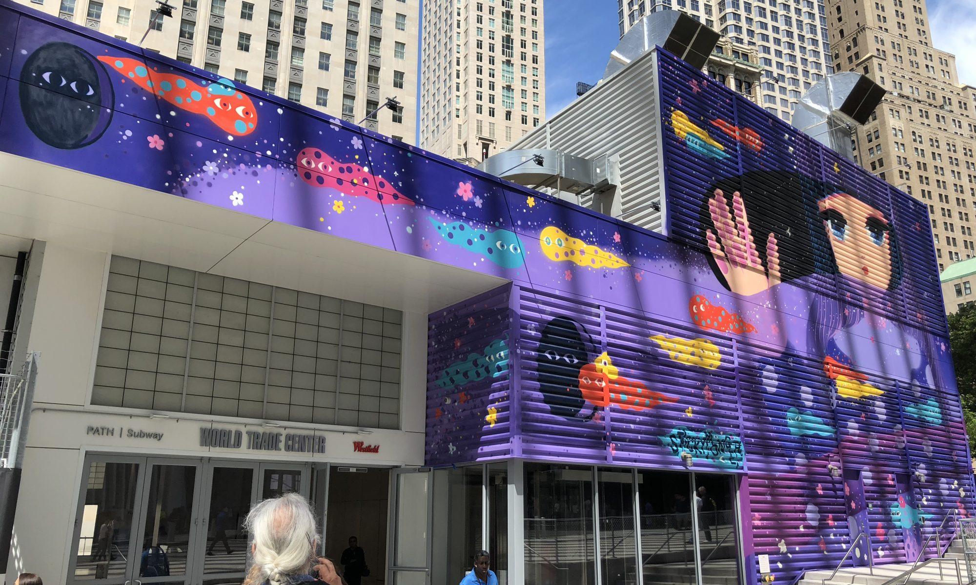 New Street Murals Animate World Trade Center in New York City